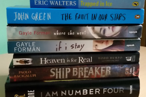 7 different assorted books