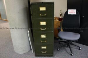 4 Drawer Black Metal File Cabinet