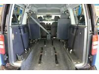 Volkswagen Caddy Auto Wheelchair car Rare 4 SEATER Long Floor model automatic