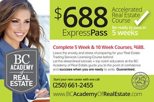 Real Estate Turtorial Classes - Be Ready to Pass in 5 weeks!