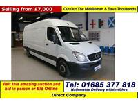 2012 - 62 - MERCEDES SPRINTER 313 2.2CDI LWB HIGH TOP VAN (GUIDE PRICE)