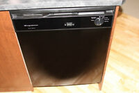 Black Dishwasher, frigidaire, runs