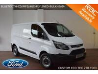2016 Ford Transit Custom 2.2TDCi (100PS) ECOnetic 270 L1H2-BLUETOOTH-PLYLINED-