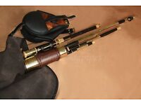 Uilleann pipes half set in D (by Kenneth McNicholl) + extra reeds x 15