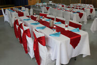 aqua blue satin napkins
