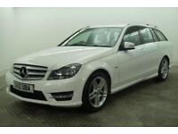 2012 Mercedes-Benz C Class C220 CDI BLUEEFFICIENCY AMG SPORT Diesel white Manual