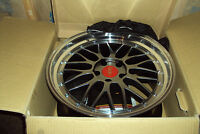 """RIM+RUBBER PACKAGE 17"""" BBS RS REPS + TIRES 4 x 100/ 114.3"""