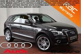 2010 Audi Q5 2.0TDI (170ps) quattro S Line-SAT NAV-LEATHER-BLUETOOTH-F.S.H.