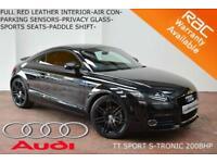 2011 Audi TT Coupe 2.0T FSI S Tronic Sport-RED LEATHER-PARK SENSORS-200BHP-