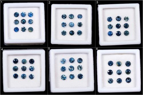 VVS Natural Blue Sapphire Lots 3.7mm Round Dazzling Top Quality Gemstones Ceylon