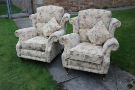 Upholstered Armchairs (Almost New Condidtion)