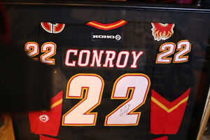 AUTHENTIC CRAIG CONROY #22 CALGARY FLAMES SIGNED FRAMED JERSEY Moose Jaw Regina Area image 8