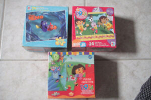 Lot of 3 box Puzzie, DORA the Explorer and Finding NEMO
