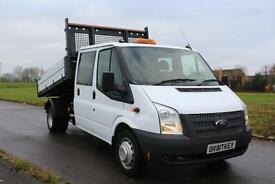 Ford Transit 350 D/C Tipper Truck 2.2 TDCI 125 ps 14 Reg Low Miles £12,995 + Vat