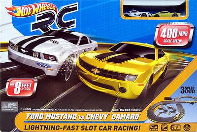 Hot Wheels® Ford® Mustang® vs Chevy® Camaro® Mattel® TYCO® HO Slot Car Race Set