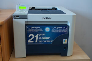 Brother Colour Laser printer, duplex, network ready