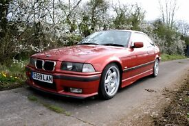 98k BMW 318is E36 Coupe Sierra Red 1998 Lowered Motorsports