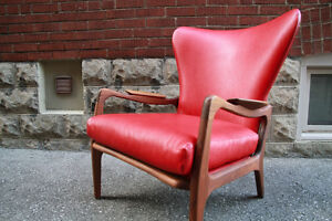*RARE* MID CENTURY LOUNGE CHAIR by Adrian Pearsall (teak/walnut)