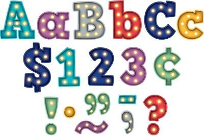 TCR 5866 Bold Block Marquee 4 Inch Bulletin Board Letters Classroom Decorations Classroom Bulletin Board Decorations