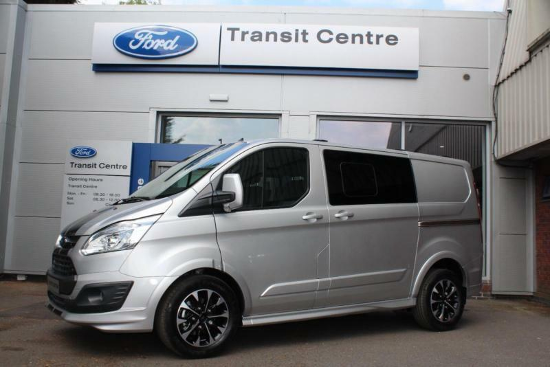 new ford transit custom 2 0tdci 170ps auto dciv 290 l1h1 sport silver nav cam in hinckley. Black Bedroom Furniture Sets. Home Design Ideas