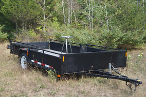 Utility Trailer for 2 ATV with rear and side ramp (custom order)