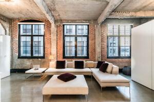 À louer!! Condo de LUXE style loft Vieux Port services inclus!!!