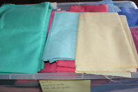 assorted 100% cotton and polycotton fabric $30