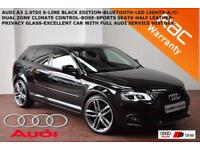 2012 Audi A3 2.0TDI (140ps) Black Edition-B.TOOTH-LED LIGHTS-BOSE-F.A.S.H.