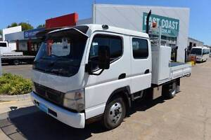 MITSUBISHI CANTER FE84 ** DUALCAB ** TRAY DROPSIDE ** #4916 Archerfield Brisbane South West Preview
