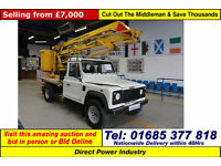 2003 LAND ROVER DEFENDER 130 2.5 TD5 C/W SYLTONE POWERED ACCESS VM 14.5M HOIST