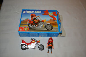 Playmobil #5113 Chopper Motorcycle with Rider Kingston Kingston Area image 1