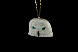 Owl Talisman Pendant made from Naturally Shed Elk Antler