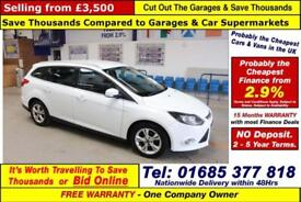 2012 - 12 - FORD FOCUS 1.6 TDCI ZETEC ECONETIC 5 DOOR ESTATE (GUIDE PRICE)