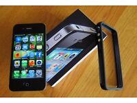 iphone 4 black 32gb unlocked box fully working