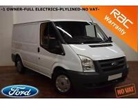 2012 Ford Transit 2.2TDCi Duratorq T260 85 BHP-1 OWNER-FULL ELECTRICS-NO VAT-
