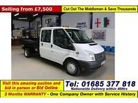 2012 - 12 - FORD TRANSIT T350 2.2TDCI 100PS RWD CREW CAB TIPPER (GUIDE PRICE)
