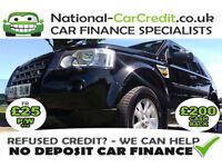 Land Rover Freelander 2.2 TD4 XS Good / Bad Credit Car Finance (black) 2008