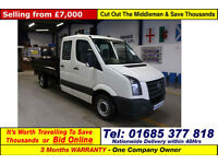 2010 - 60 - VOLKSWAGEN CRAFTER CR35 EURO 5 2.5TDI BLUE 109PS CREW CAB MWB TIPPER
