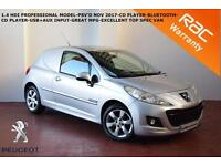 Peugeot 207 1.4HDi 70 Professional-BLUETOOTH-ELECTRIC PACK-AIR CON-NO VAT-