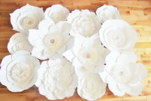 Paper Flower Backdrop - Baby Nursery, Weddings, Events