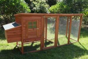 250 cm XL Chicken Coop Rabbit Hutch Ferret Cage Hen Chook House