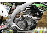 2015 KAWASAKI KXF 450 MOTOCROSS BIKE RENTHAL BARS, HYDRAULIC CLUTCH, NEW GRIPS