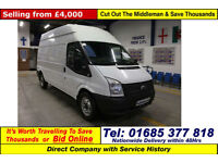 2013 - 62 - FORD TRANSIT T350 2.2TDCI 125PS RWD HIGH-TOP LWB VAN (GUIDE PRICE)