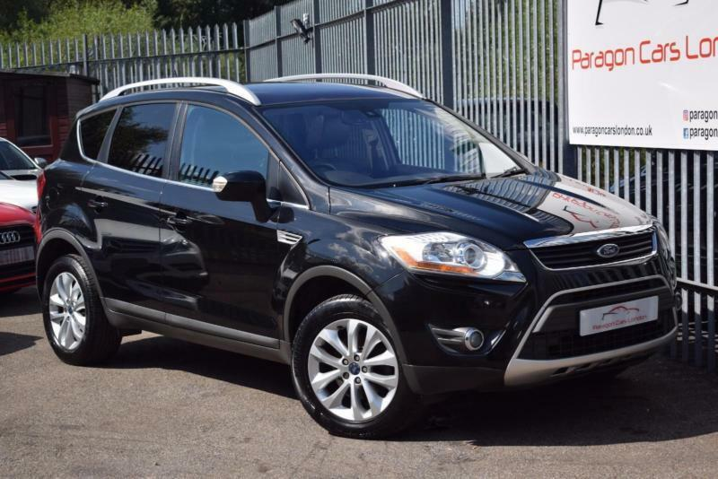 2009 ford kuga suv 2wd 2 0tdci 136 dpf titanium 6spd diesel black manual in watford. Black Bedroom Furniture Sets. Home Design Ideas