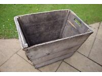 French Vintage Wooden Champagne Wine Harvest Crate / Box / Caisse à Vendanges