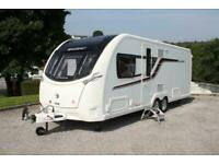 2016 Swift Conqueror 645 4 Berth Luxury Twin Axle Island Bed Caravan Immaculate