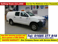 2014 - 14 - TOYOTA HILUX ACTIVE 2.5D-4D 4X4 DOUBLE CAB PICK UP C/W TRUCKMAN TO