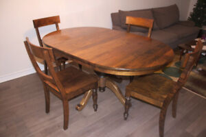 Woodcraft Solid Maple Dining Table & 6 Chairs - Made in Canada!