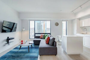FEBRUARY MARCH DEAL 2BR FURNISHED MODERN CONDO DOWNTOWN MONTREAL