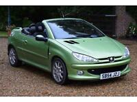 2004 54 PEUGEOT 206 1.6 S 2D AUTO 108 BHP, AUTO CONVERTIBLE P/X - MOT MARCH 18